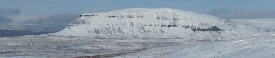 A snowy Pen-y-Ghent, part of the Pennine Way