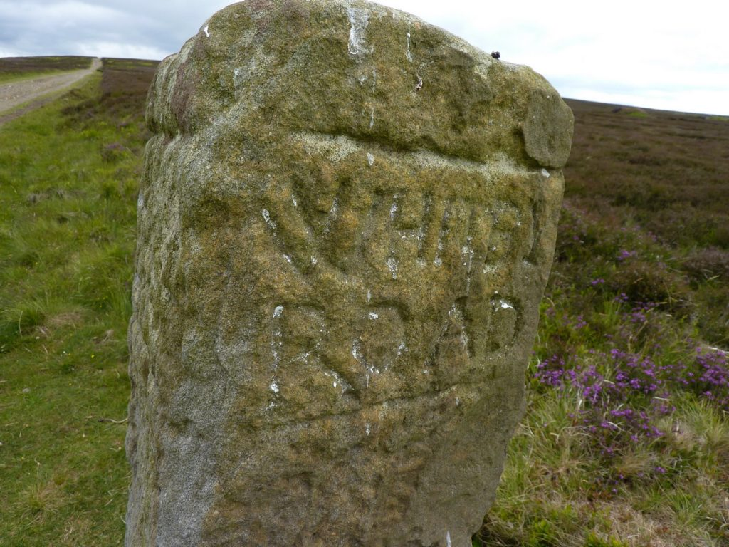 C2C Whitby Road marker stone