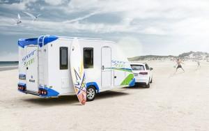 Our caravan (surfboard optional)
